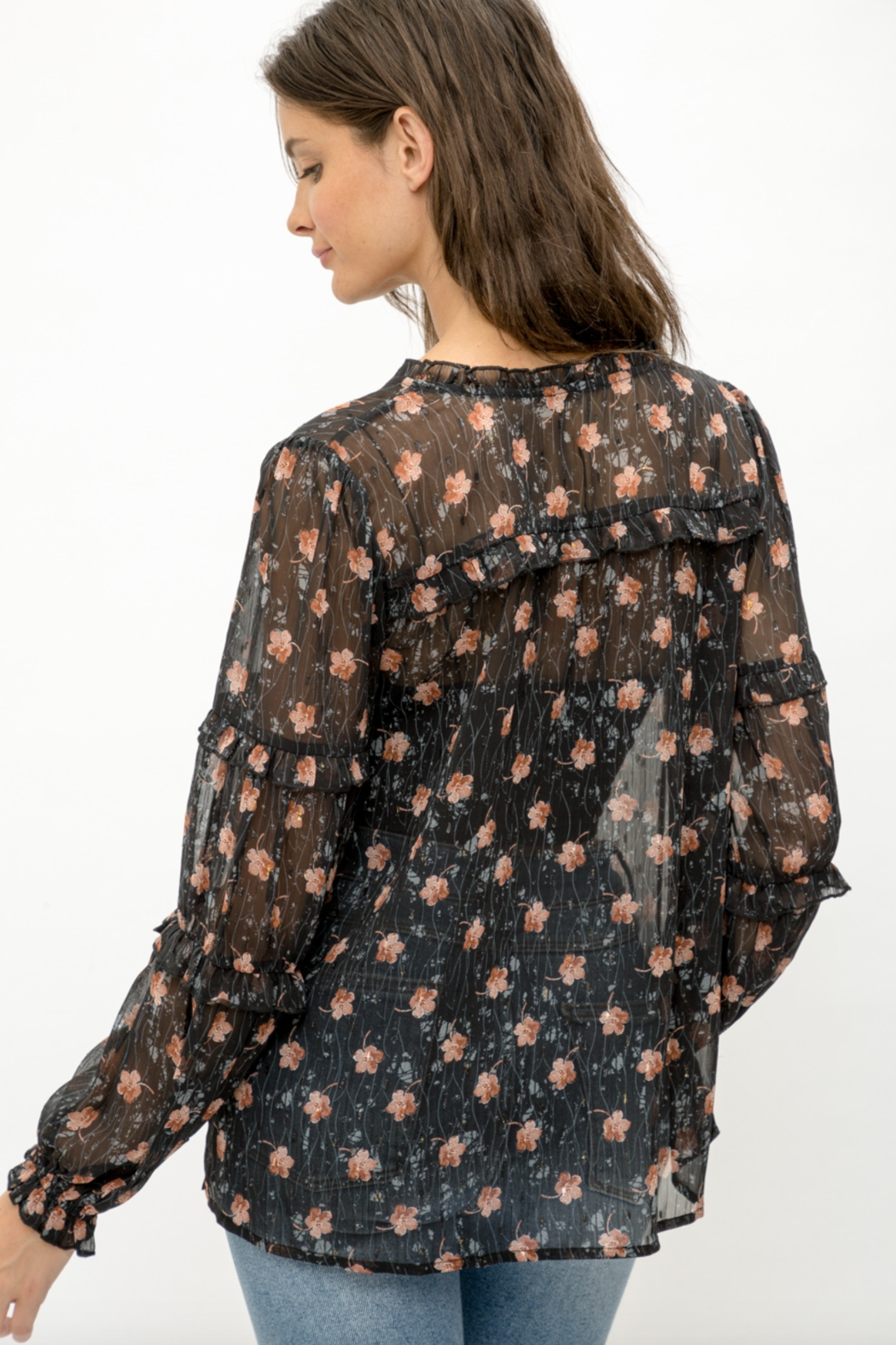 Mystree Floral Blouse - Side Cropped Image