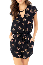 Saltwater Luxe Floral Blouse w cutout front & tie back - Product Mini Image