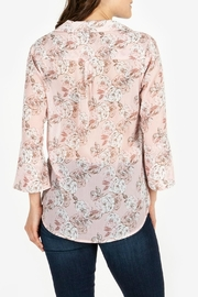 Kut from the Kloth Floral-Blouse With Flounce-Sleeves - Front full body
