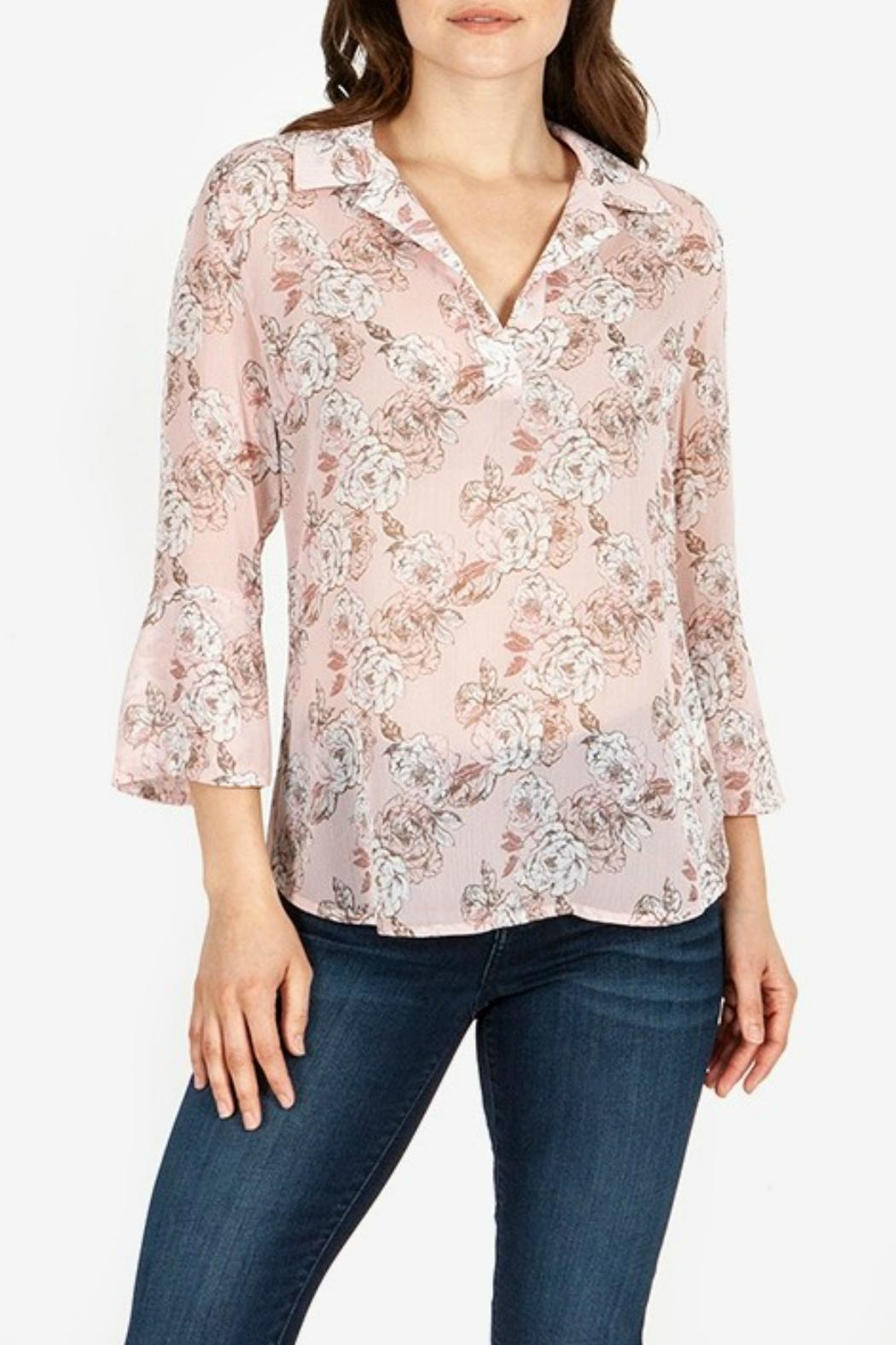 Kut from the Kloth Floral-Blouse With Flounce-Sleeves - Main Image