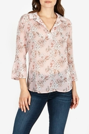 Kut from the Kloth Floral-Blouse With Flounce-Sleeves - Product Mini Image