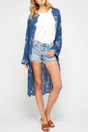 Gentle Fawn Floral Blue Duster - Product Mini Image