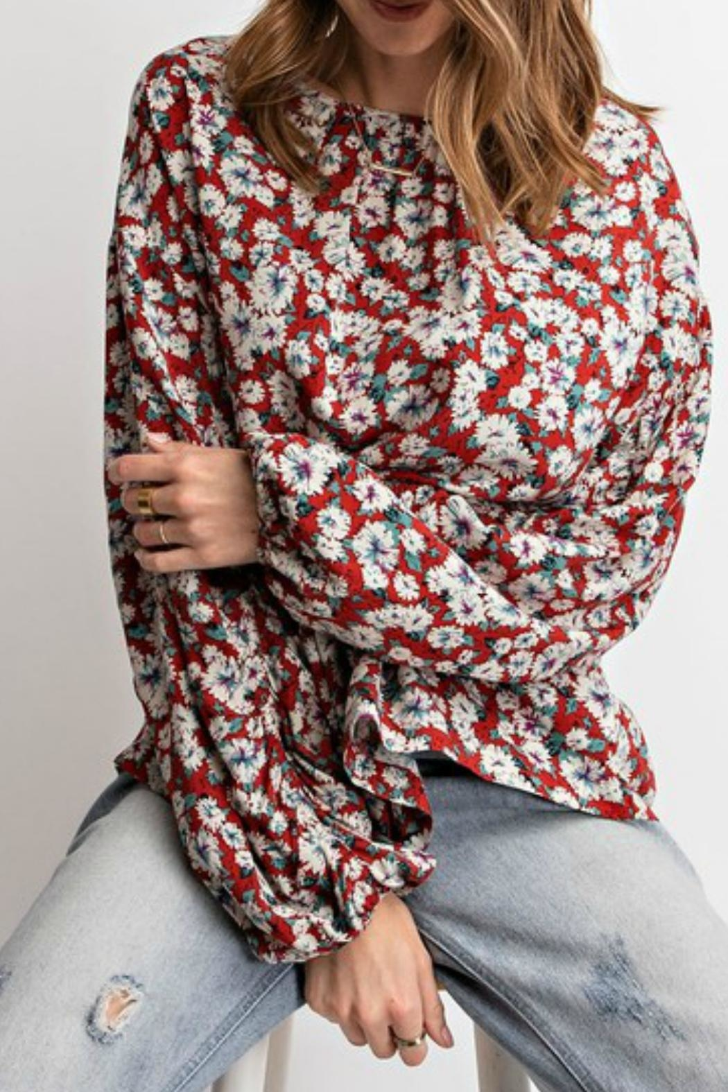 87b95b1d607 easel Floral Boho Blouse from Kansas by Lilly and Marie — Shoptiques