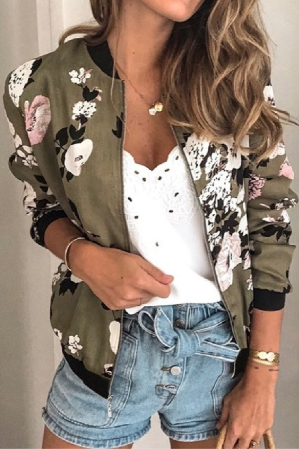Lyn-Maree's  Floral Bomber - Main Image