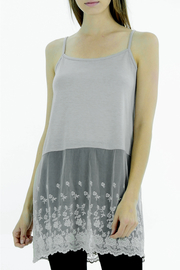 Melody Floral Bottom Slip Tunic, Top Lengthener - Product Mini Image