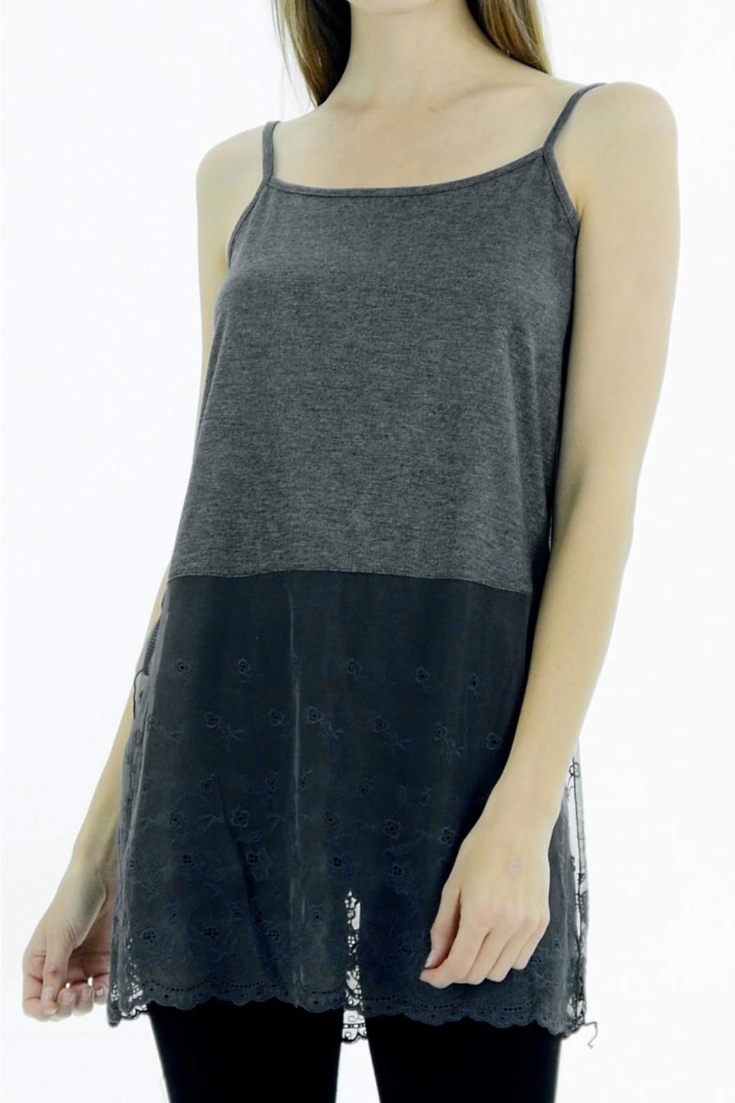 Melody Floral Bottom Slip Tunic, Top Lengthener - Front Cropped Image