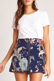 Jack by BB Dakota Floral Brocade Skirt - Product Mini Image