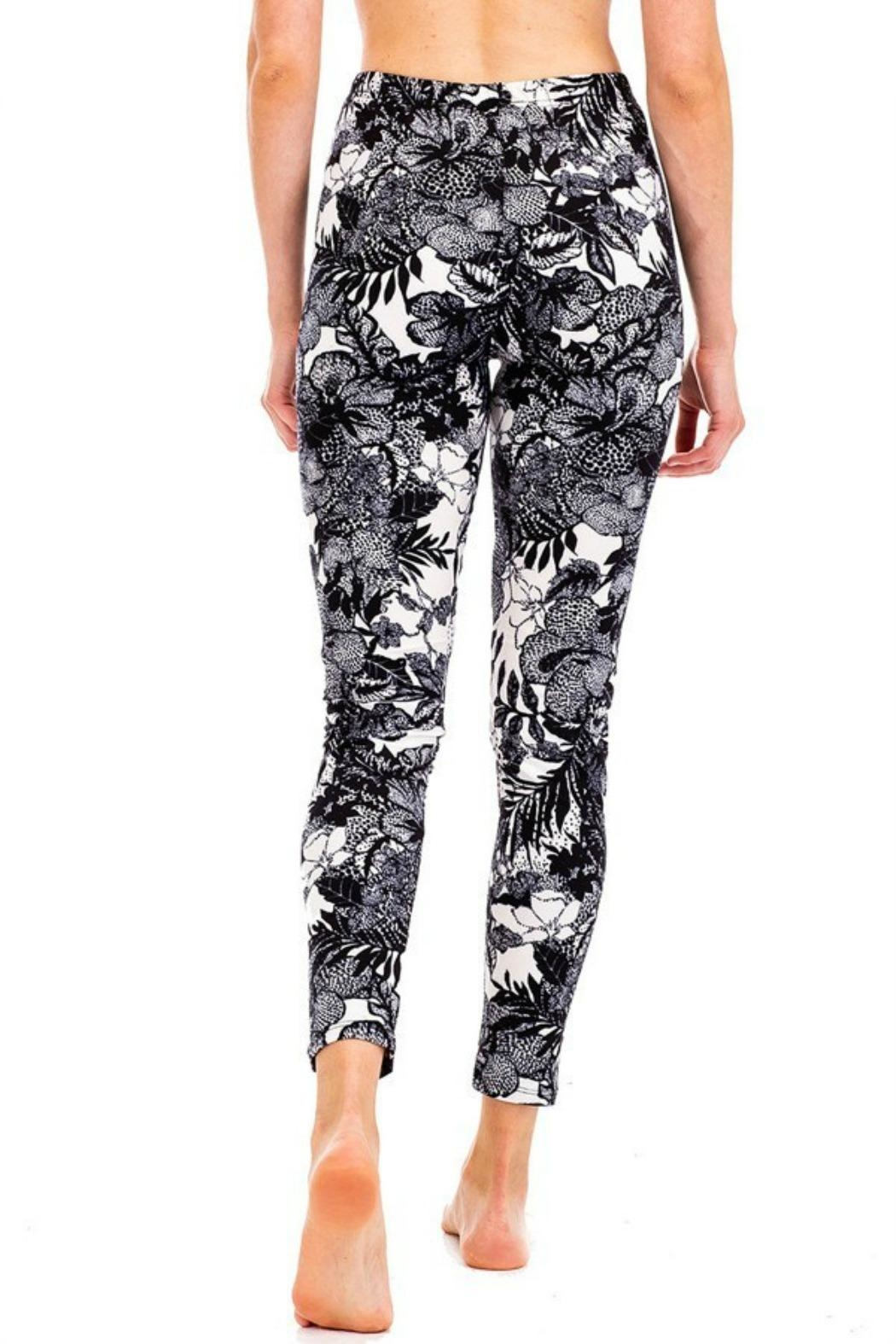 Kimberly C. Floral Brushed Leggings - Front Full Image
