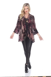Aris A Floral Burnout Cardigan - Product Mini Image