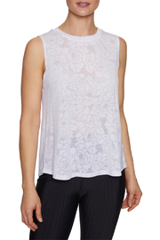 Betsey Johnson Floral Burnout Swing Muscle Tank - Front cropped