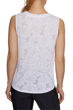 Betsey Johnson Floral Burnout Swing Muscle Tank - Alternate List Image
