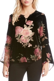 Karen Kane Floral Burnout Top - Product Mini Image