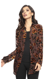 Adore Floral Burnt-out Blouse - Product Mini Image