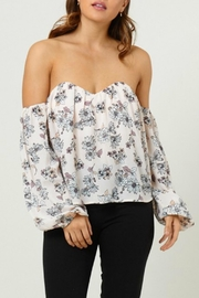Pretty Little Things Floral Bustier Top - Product Mini Image