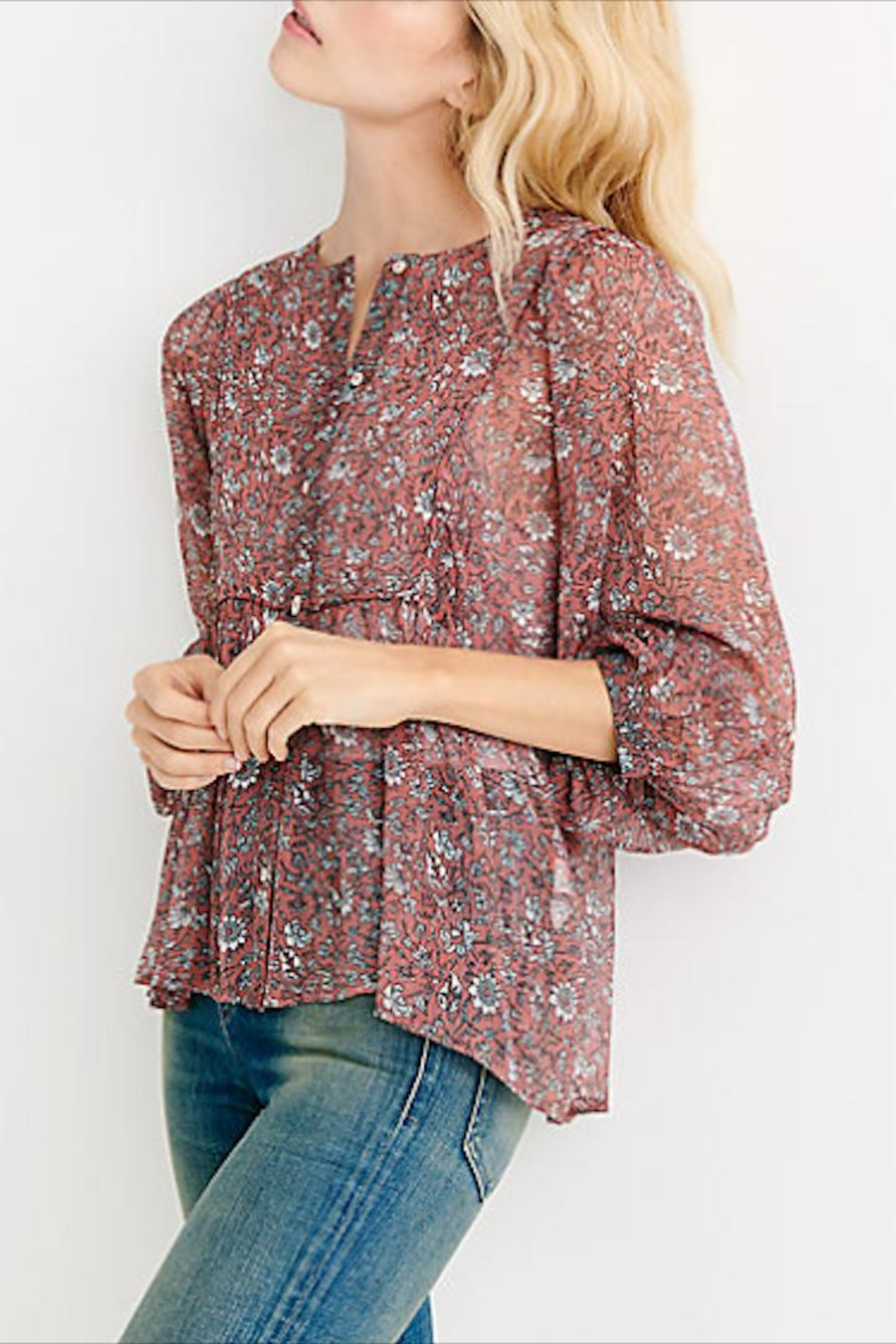 Lucky Brand Floral Button-Down Blouse - Main Image