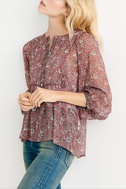Lucky Brand Floral Button-Down Blouse - Product Mini Image