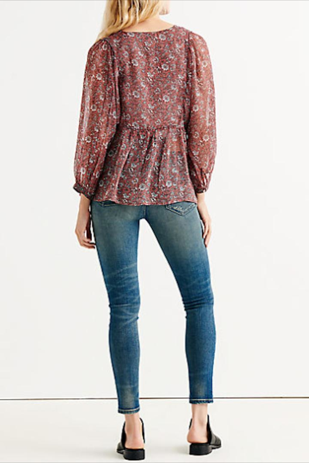 Lucky Brand Floral Button-Down Blouse - Side Cropped Image