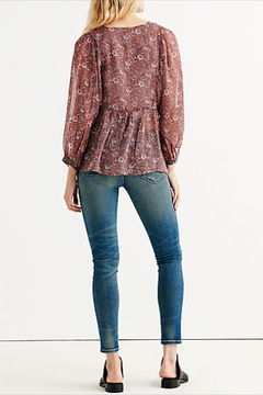 Lucky Brand Floral Button-Down Blouse - Alternate List Image