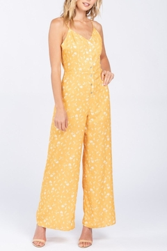 Everly Floral Button-Down Jumpsuit - Product List Image