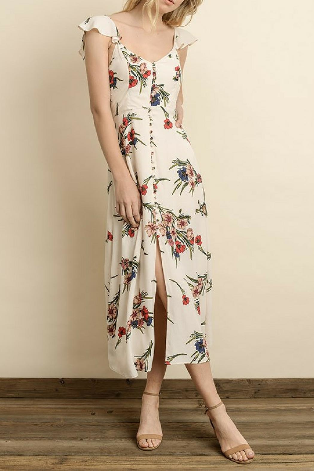 dress forum Floral Button-Down Midi - Main Image