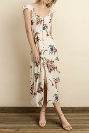 dress forum Floral Button-Down Midi - Front cropped