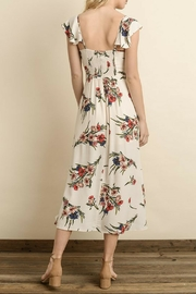 dress forum Floral Button-Down Midi - Front full body