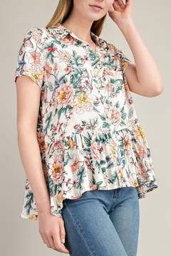 Mittoshop Floral Button-Down Top - Product List Image