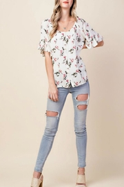 KORI AMERICA Floral Button-Down Top - Other