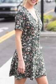 Hyped Unicorn Floral Button-Front Dress - Front full body