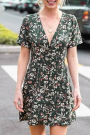 Hyped Unicorn Floral Button-Front Dress - Front cropped
