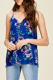 LuLu's Boutique Floral Button Tank - Product Mini Image
