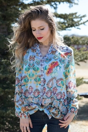 Olive Hill Floral Button-Up Blouse - Product Mini Image