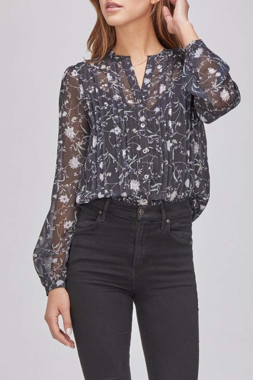 Greylin Floral Button-Up Blouse - Front Full Image