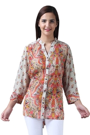 Parsley & Sage Floral Button-Up Blouse - Product Mini Image