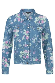 Tribal Floral Button-Up Jacket - Product Mini Image