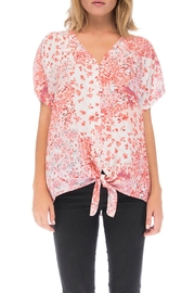 Bobeau Floral Button-Up Shirt - Front cropped