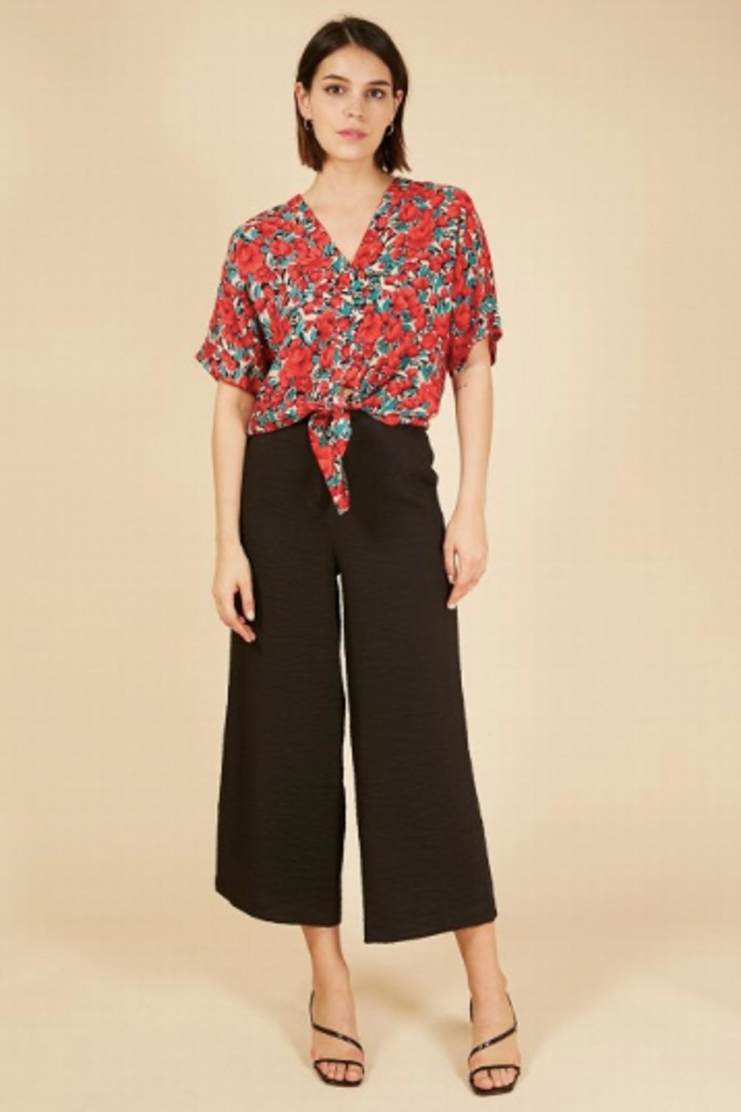 FRNCH Floral Buttoned Shirt - Front Full Image