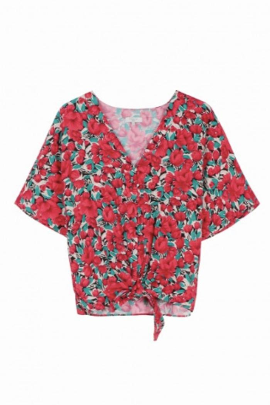 FRNCH Floral Buttoned Shirt - Main Image