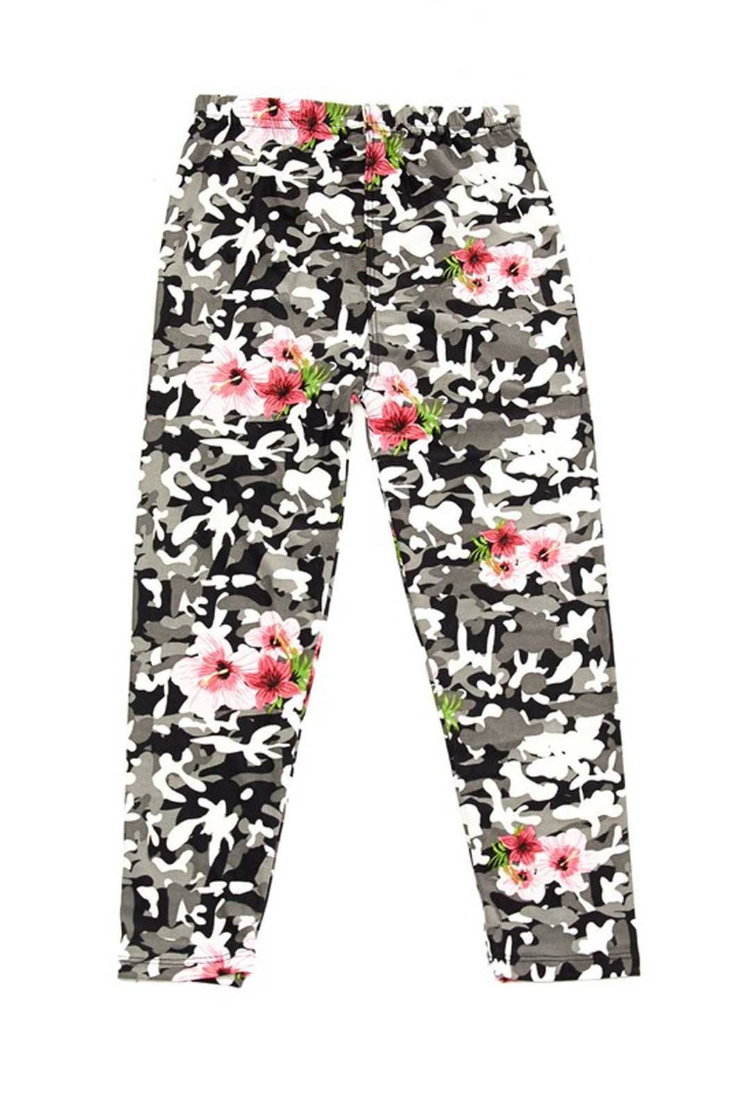 New Mix Floral Camo Legging - Main Image