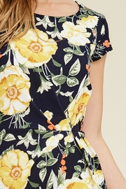 Riah Fashion Floral Cap-Sleeve Dress - Other