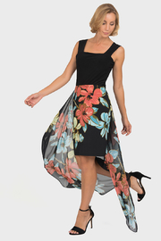 Joseph Ribkoff  Floral Caped Skirt, Black/Multi - Product Mini Image