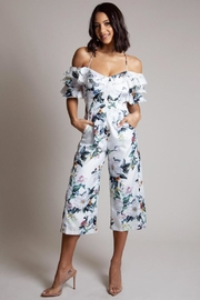 Latiste Floral Capri Jumpsuit - Product Mini Image