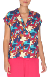 PepaLoves Floral Capsleeve Blouse - Product Mini Image
