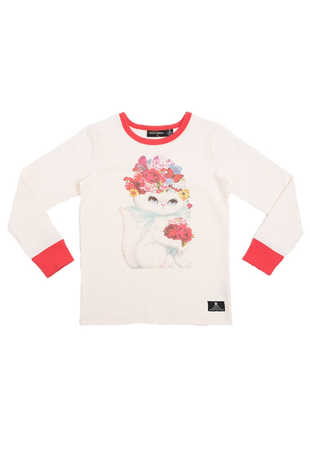 Rock Your Baby Floral Cat Top - Main Image