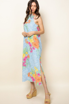 Thml Floral/Cheetah Halter Maxi - Product List Image