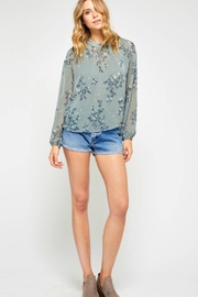 Gentle Fawn Floral Chiffon Blouse - Product Mini Image