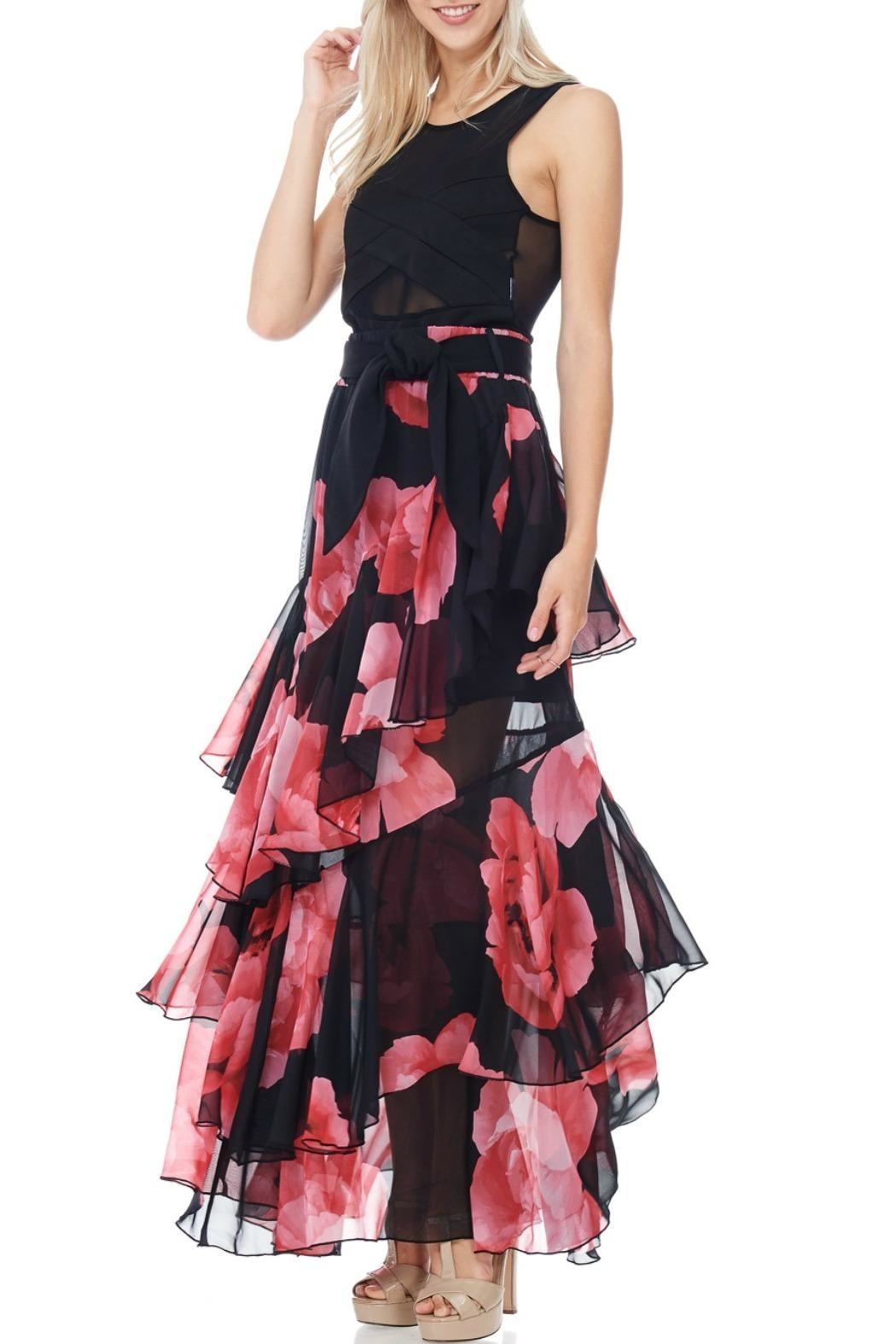TOV Floral Chiffon Maxi - Front Full Image