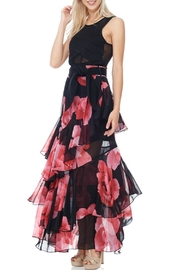 TOV Floral Chiffon Maxi - Front full body