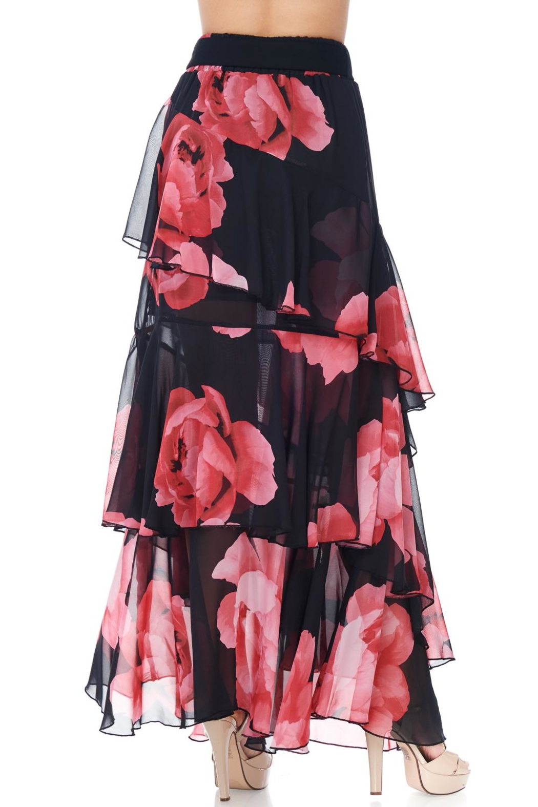 TOV Floral Chiffon Maxi - Side Cropped Image