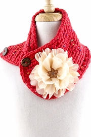 YOOMOO Floral Chiffon Neck-Warmer - Product Mini Image